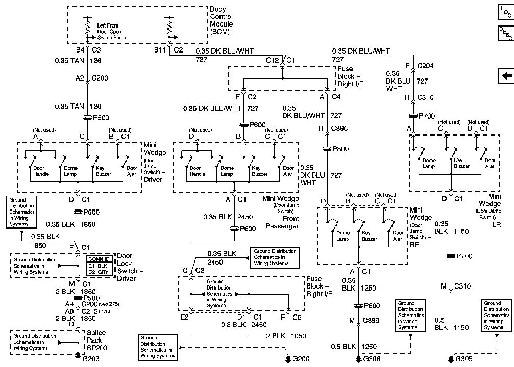 2007 chevy silverado door lock diagram silverado door wiring diagram i am wiring in a power step and need to identify the ...