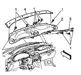 How Remove Dash On A 2001 Pontiac Montana