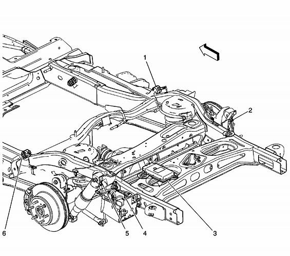 2007 Chevy Suburban Ltz Rear Suspension Compressor Diagram