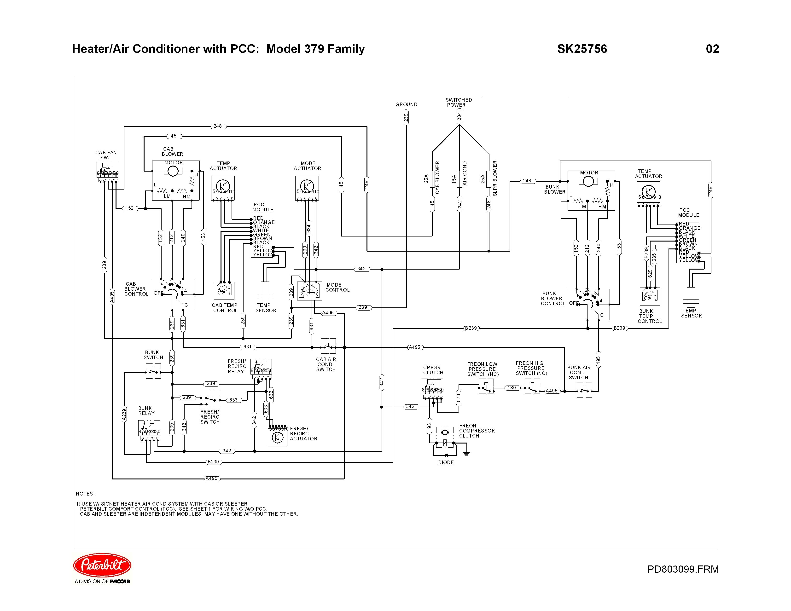 blower dont work in sleeper, 1998 379 kenworth engine fan wiring diagram