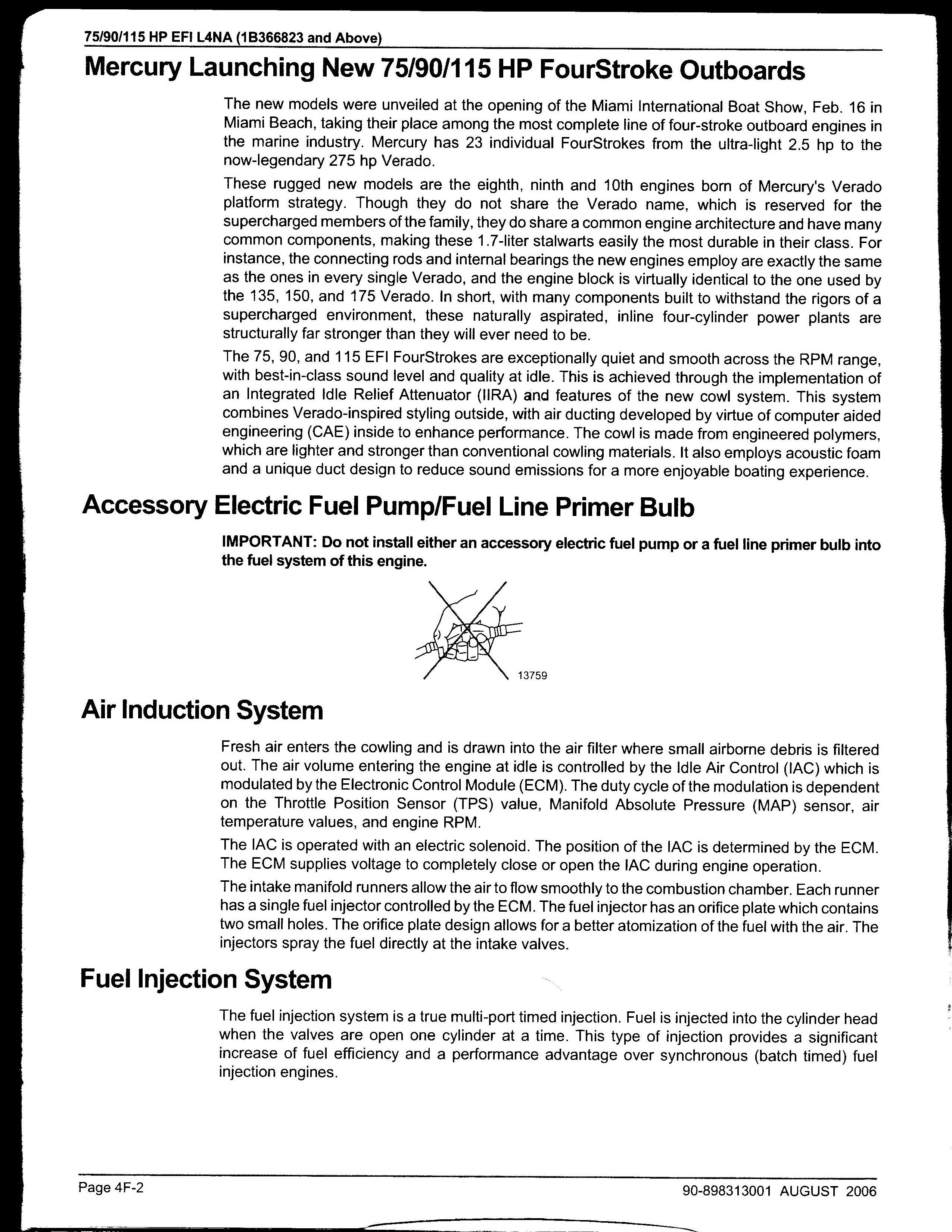 2008 mercury 115 4 stroke fuel issues
