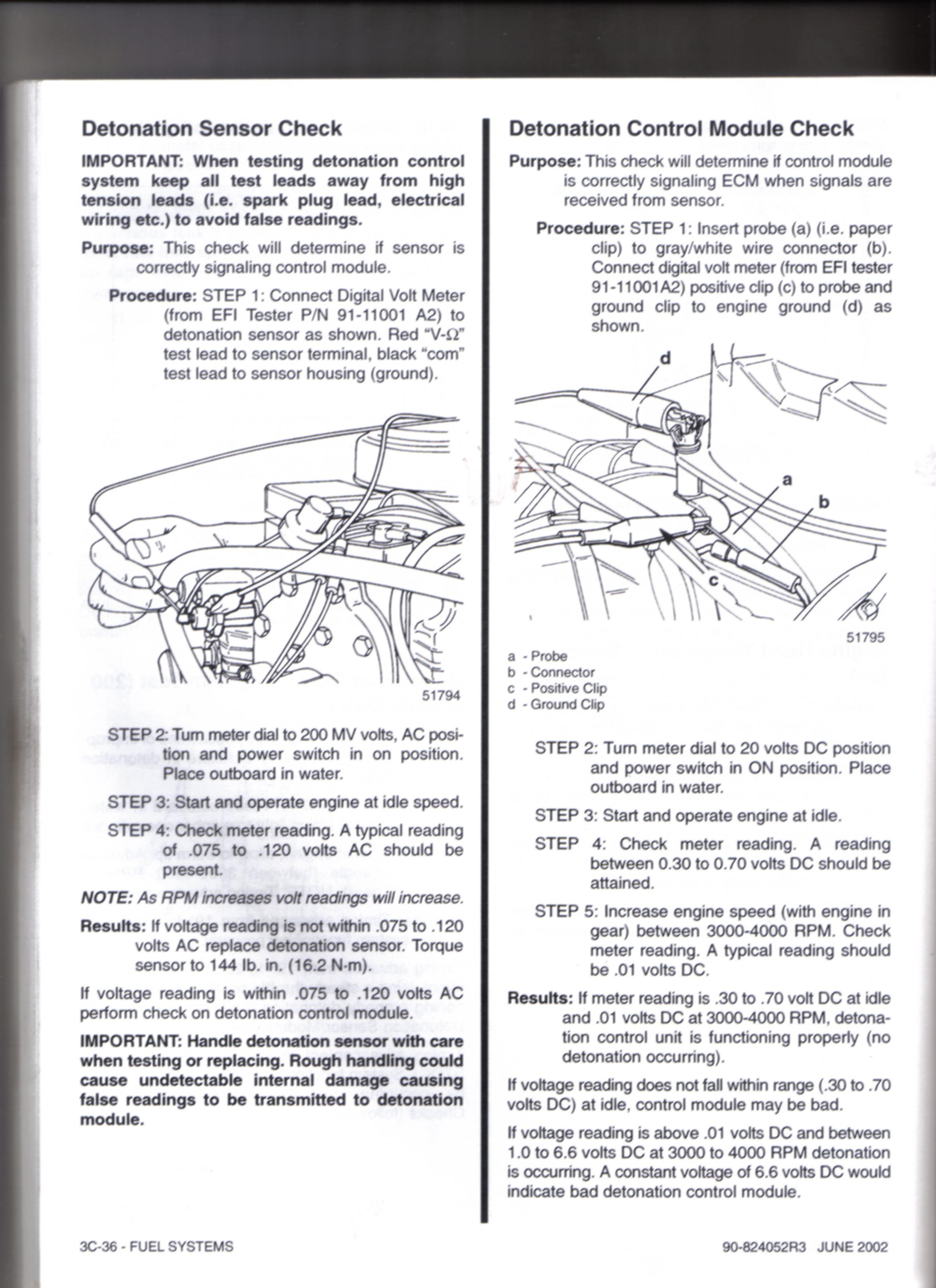 Year 2000 mercury 200 efi missfire / bogging/ surging issue serial