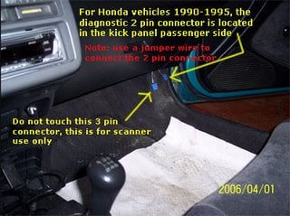 Honda Obd Diagnostic Connector