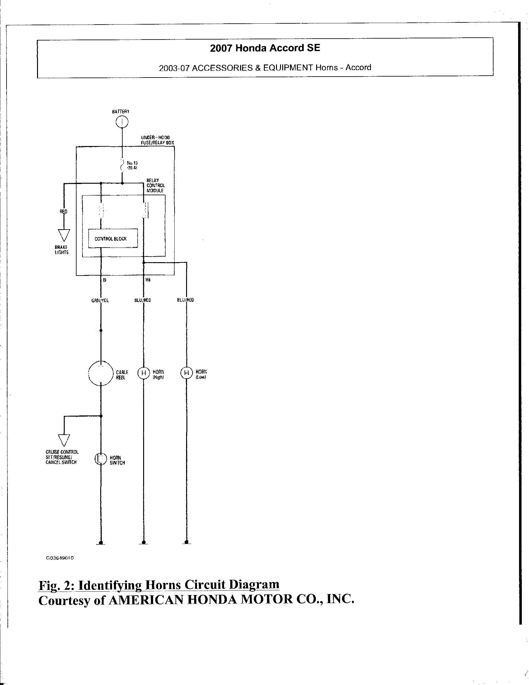 1990 honda accord horn wiring diagram 2003 honda accord horn starting blowing by itself about 3 months  2003 honda accord horn starting blowing