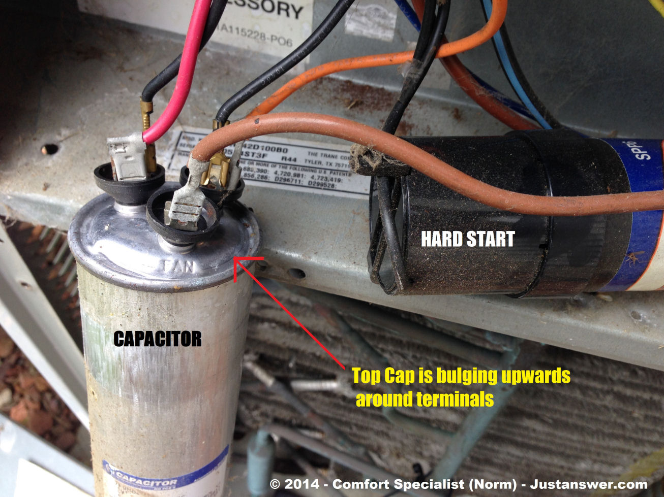 i have a carrier ac model 24aba and last night i heared ... ac fan start cap wiring ac start capacitor wiring