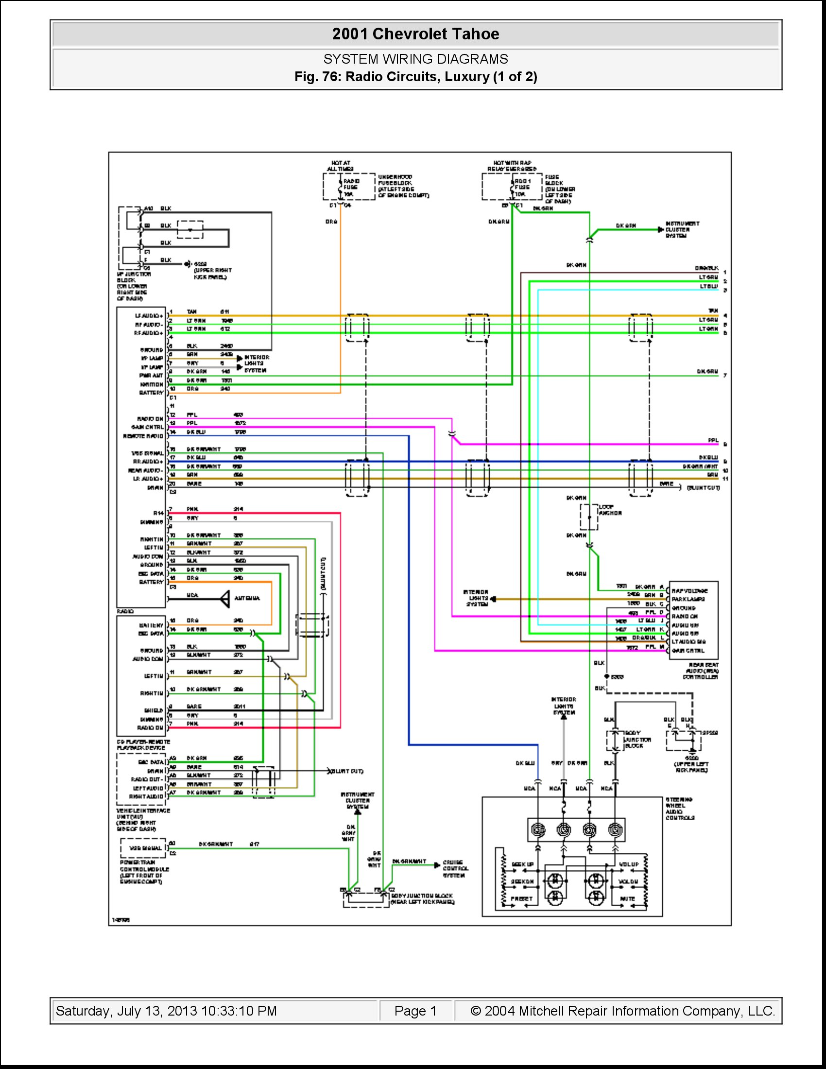 i need a diagram of the stereo wiring in a 2001 chevy tahoe o i need a stereo wiring diagram for stereo wiring diagram for a 2000 ford mustang