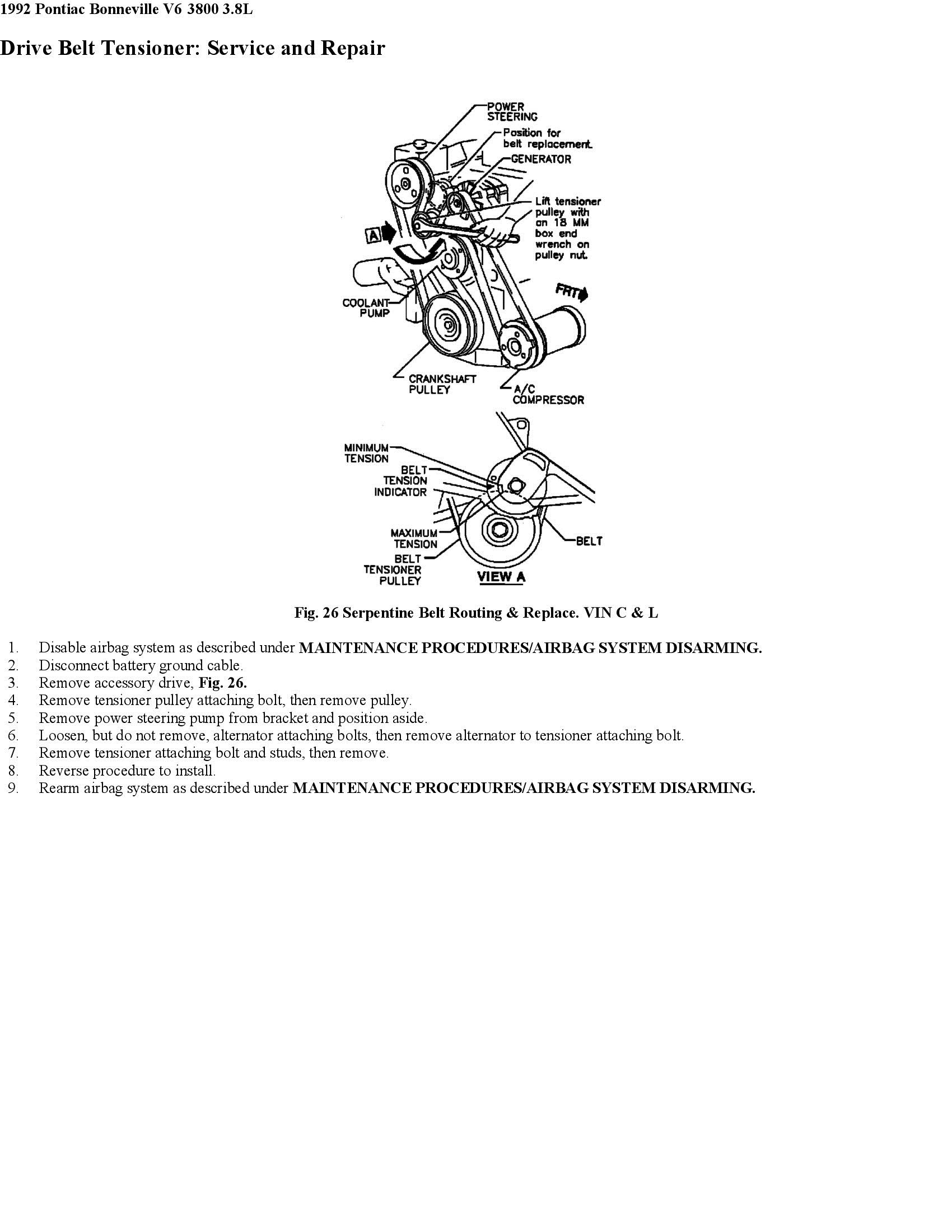 1995 Olds 98 Installation Diagram For A Serpentine Beltsupercharged