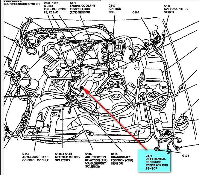 RepairGuideContent likewise Where Is The Camshaft Position Sensor On A 2005 Chevy Fixya also 1405569 Which Sensor Runs 2001 V10 Temp Guage further Where Is Chevy S10 Knock Sensor 1 Circuit Bank 1 114751 likewise Camshaft Position Sensor Location 305852. on knock sensor location ford f150