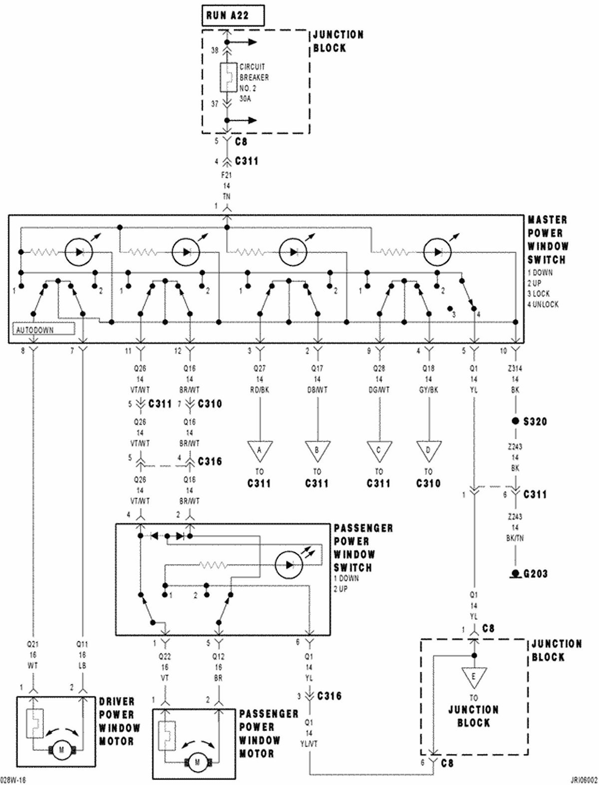 2004 Dodge Stratus Power Window Wiring Diagram Detailed 04 2 7 Engine Electrical Problem With Rr The Switch Only Works For Up Manual