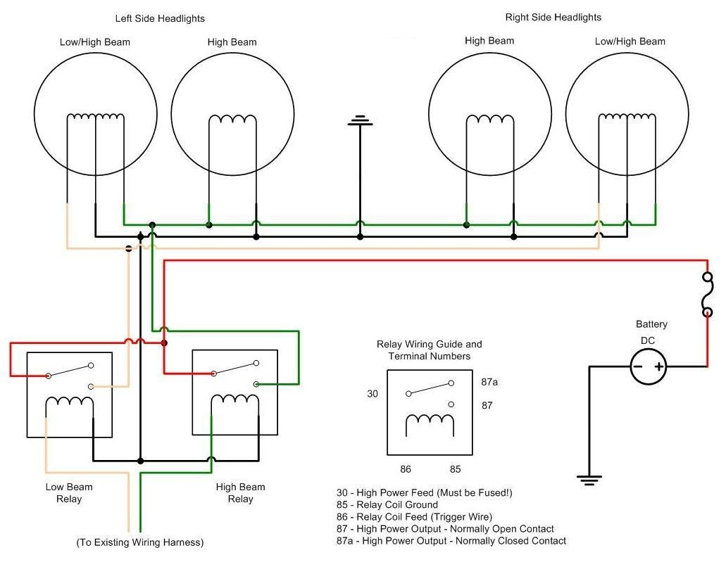 low beam headlight socket wiring diagram gm low beam headlight wiring diagram i bought h4656 headlights for my peterbilt. the high beam ...