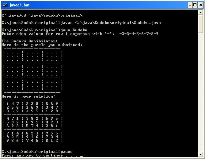 i have an existing java program that is a simple sudoku