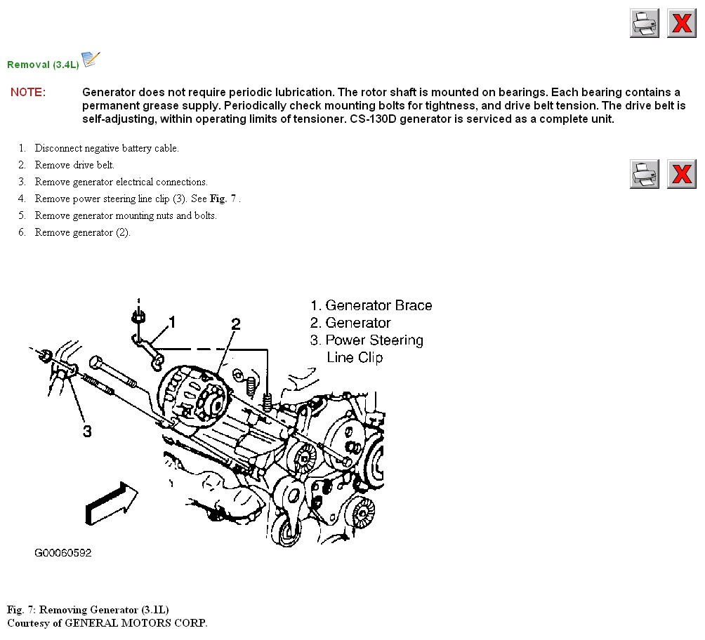 Removing An Alternator From A 2001 Olds Alero Gls 35l Oldsmobile 3 5l Engine Diagram Graphic