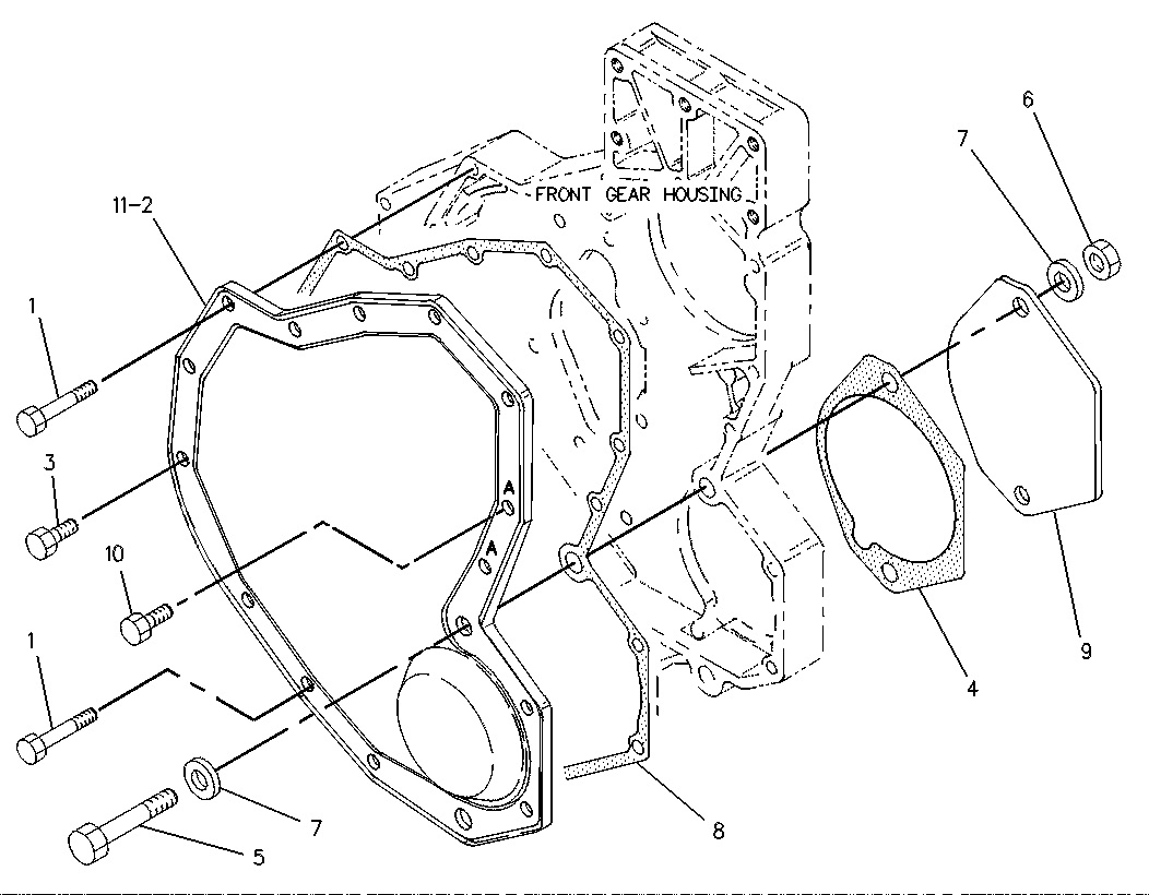 Above Is A Picture Of The Front Housing And Covers Item 4 9y4634 Gasket Note Notch At Bottom Towards Block: Caterpillar 3406e Front Engine Cover Diagram At Chusao.net