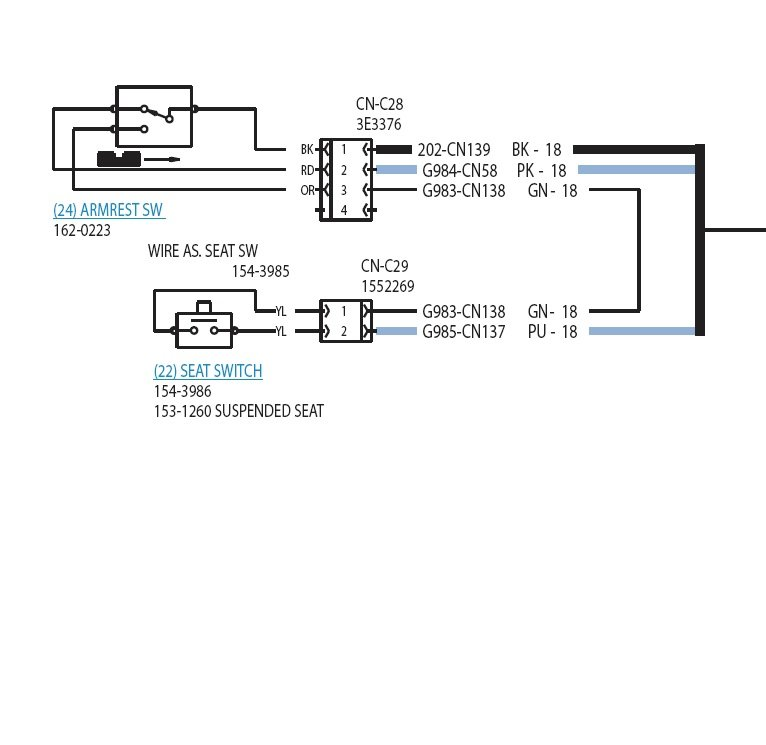 cat 6 wiring diagram rj45 i have a 2005 cat 257b. the other day i hit a stump really ... cat 257b wiring diagram #7