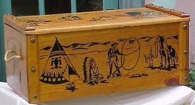 I Have An Old Wooden Toy Box Which I Believe If From The