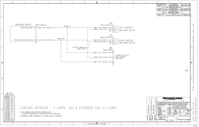 simple wire schematics freightliner partspro m2 chassis in rv door shut but simple wiring schematics for trucks #4
