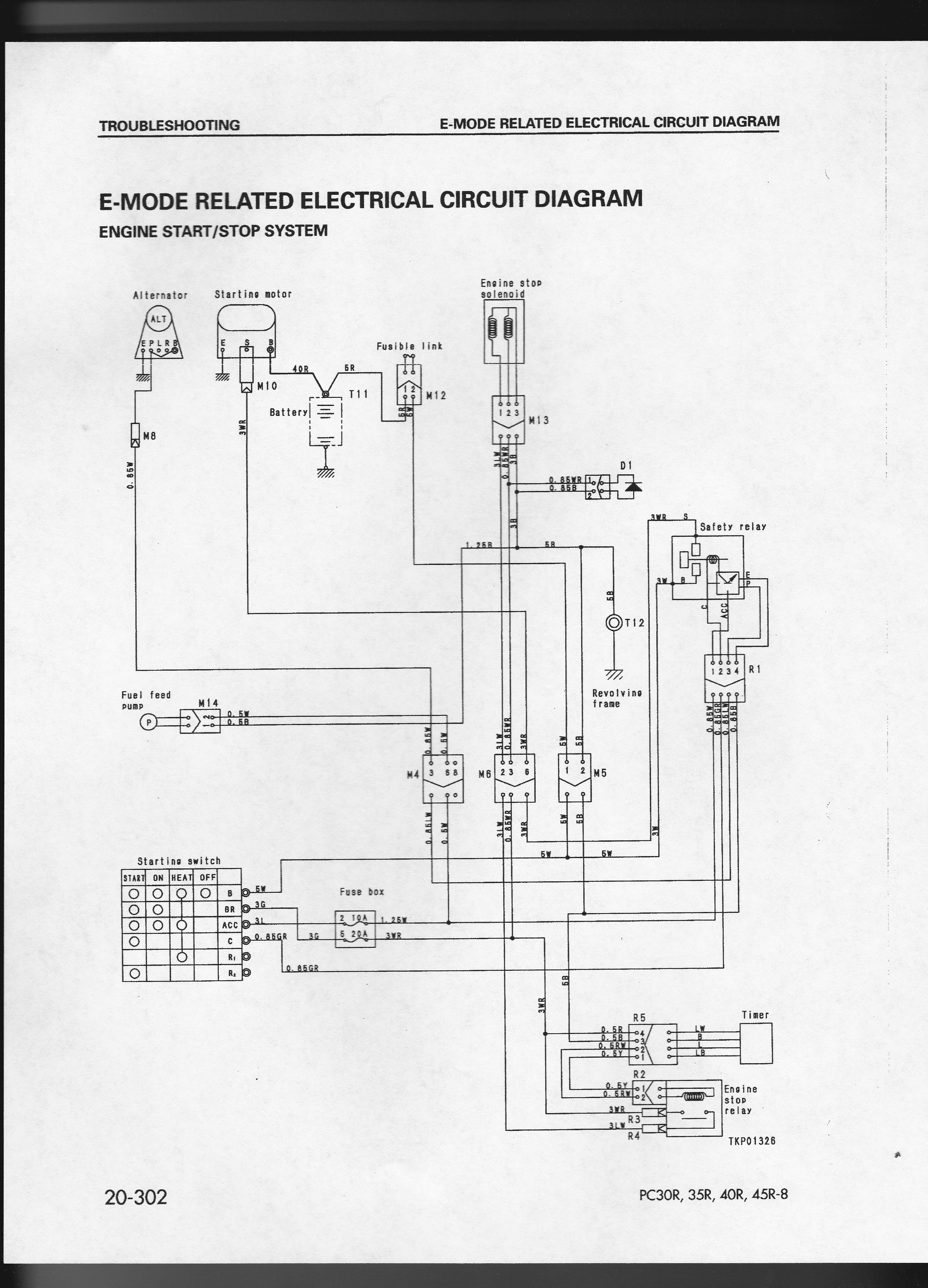 2013 01 10_002643_pc40_0001 no power to ignition switch on cat th63 cat th63 wiring schematic  at gsmportal.co