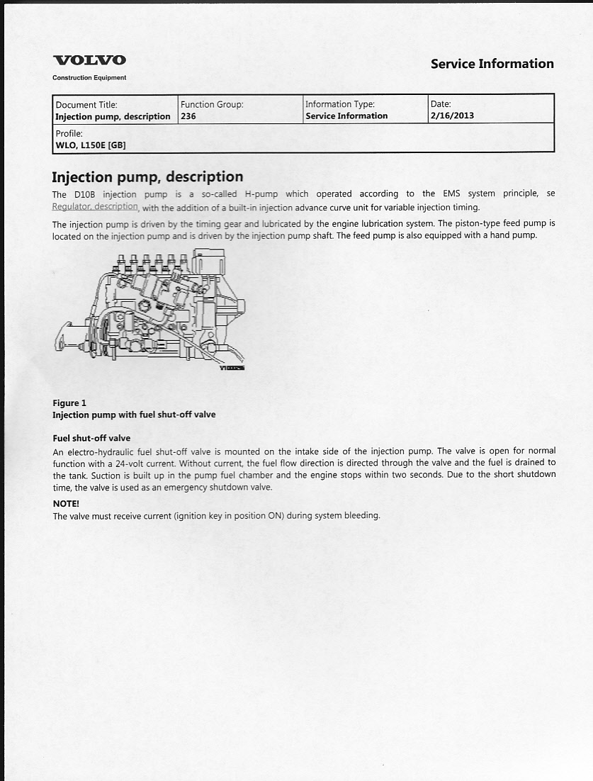Wiring Harness Testing Equipment Diagram And Ebooks Starting New Session With Diesel Volvo L150e D102blae2 Engine Automotive