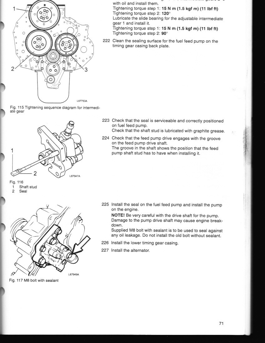 I Have A Volvo D12456 Cant Get Running Just Put Head Gskt On. Volvo. Volvo D12 Engine Fuel Diagram At Scoala.co