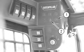 Cat 226 Interlock And Continuous Flow Button Not Operable