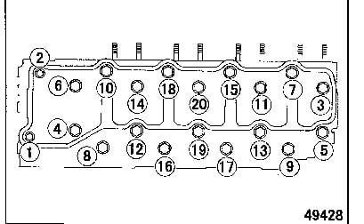 Head Torque on Camshaft Gear Engine Timing