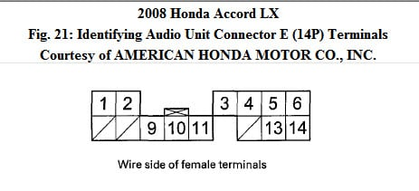 I Have Honda Accord 2008 With The Pictured Radio Need The Wiring Diagram For Head Units And Display And How The