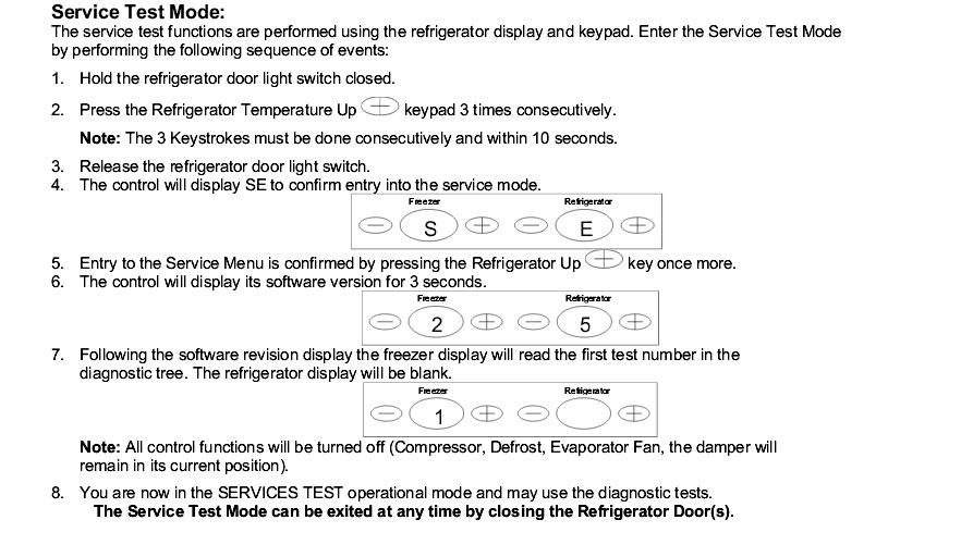 Amana Refrigerator Service Test Mode - The Best Refrigerator Produck
