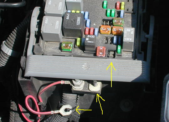 Where is the    fuse    for the elec brakes located on a chevy    silverado