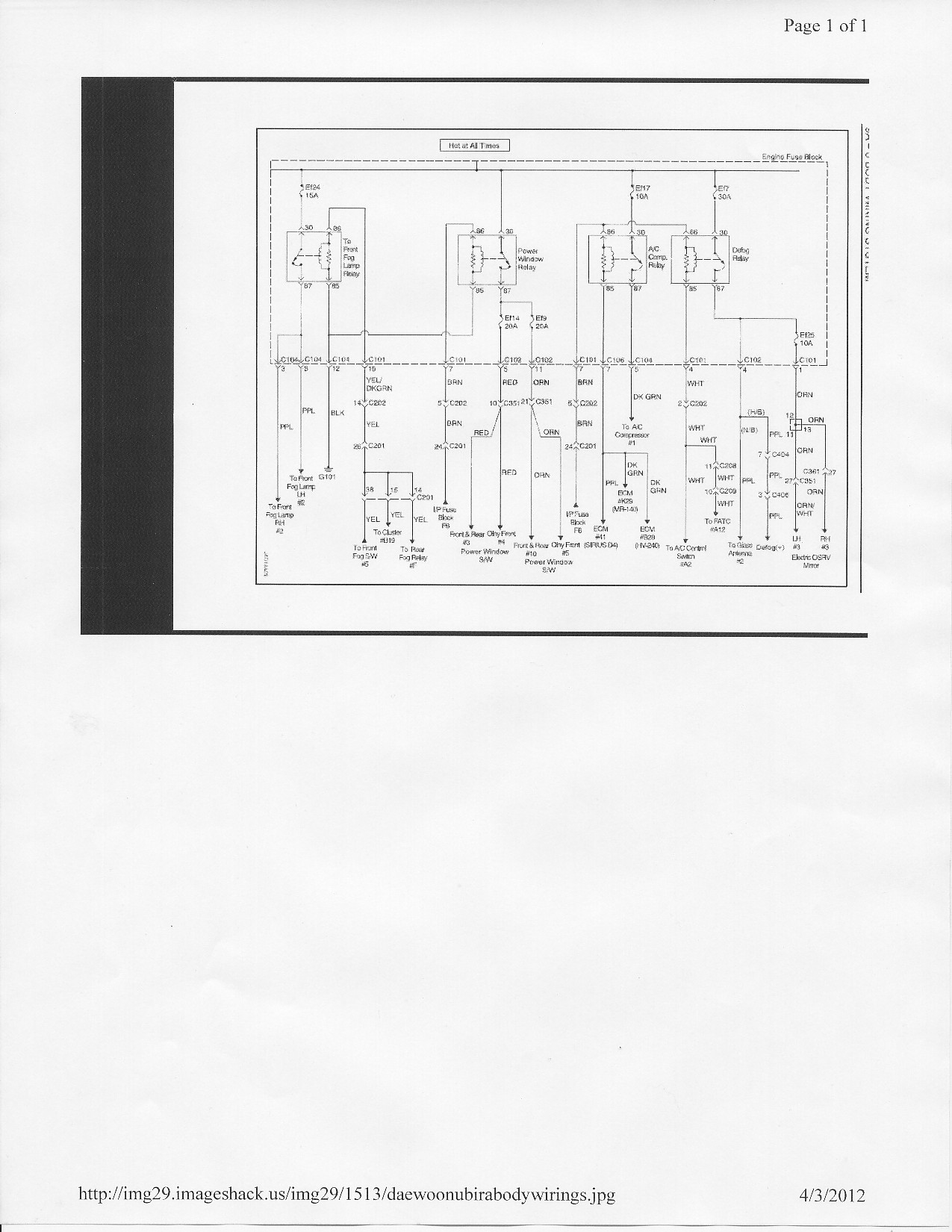 1999 daewoo nubira fuse box diagram 2001 daewoo lanos fuse box diagram