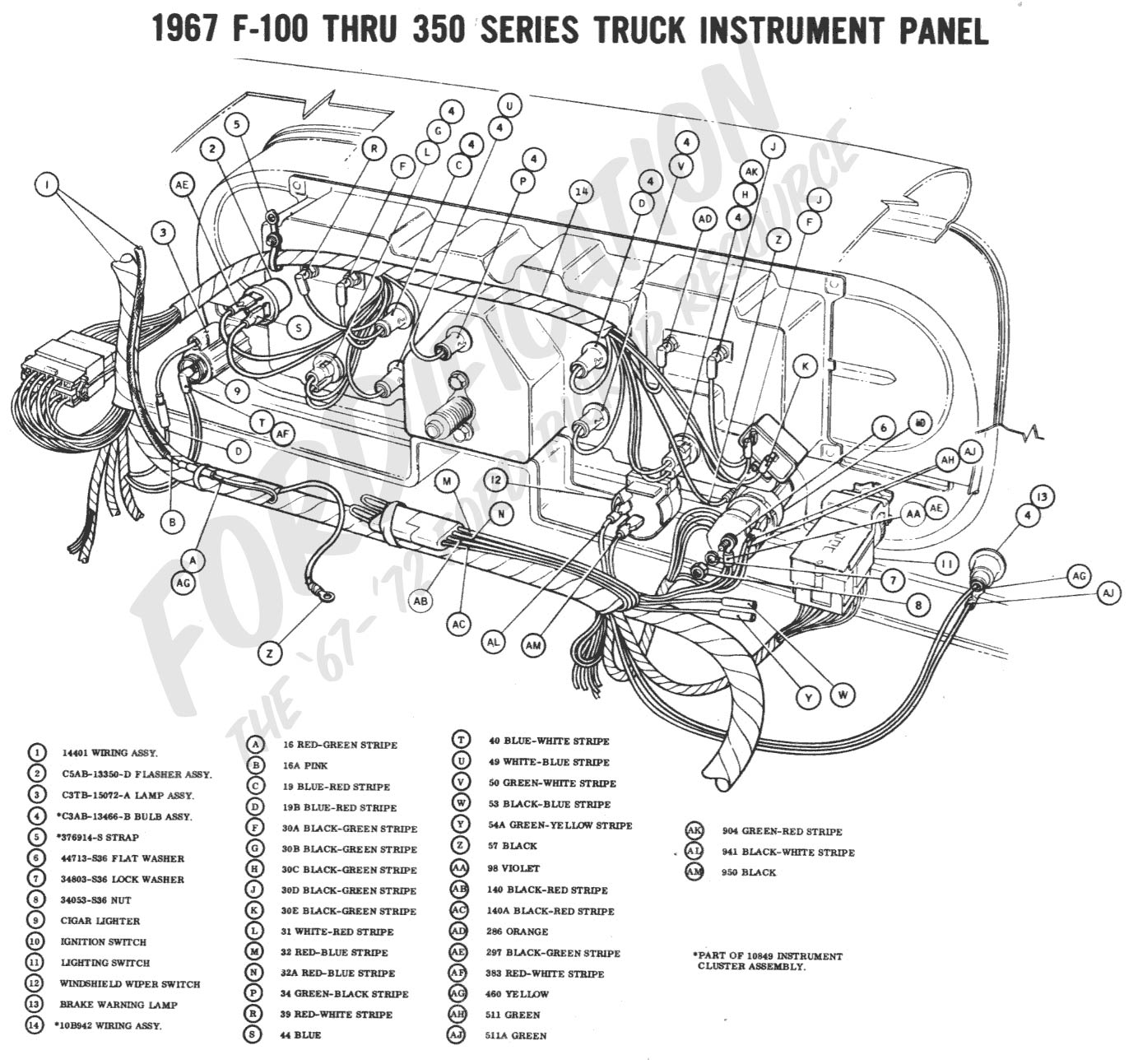 1965 ford f 100 instrument panel wiring schematic 1965 ford mustang fuse box diagram wiring schematic my 1967 ford f-100 with a 68 mustang 289 flutters when it ...