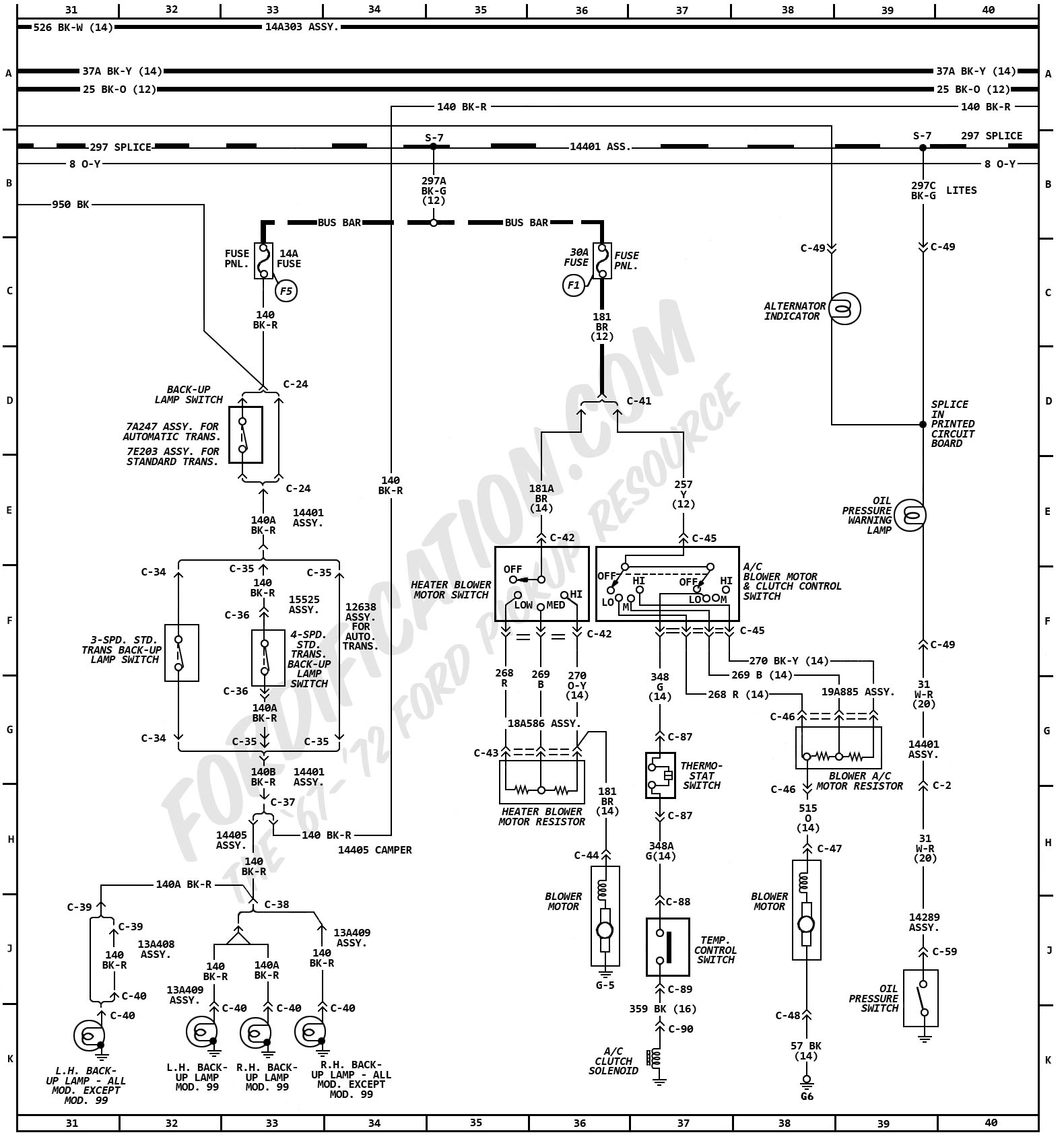 1972 Chevy Truck Wiring Diagram Colored Data Diagrams 1966 1973 Ford F100 Trusted Rh Dafpods Co