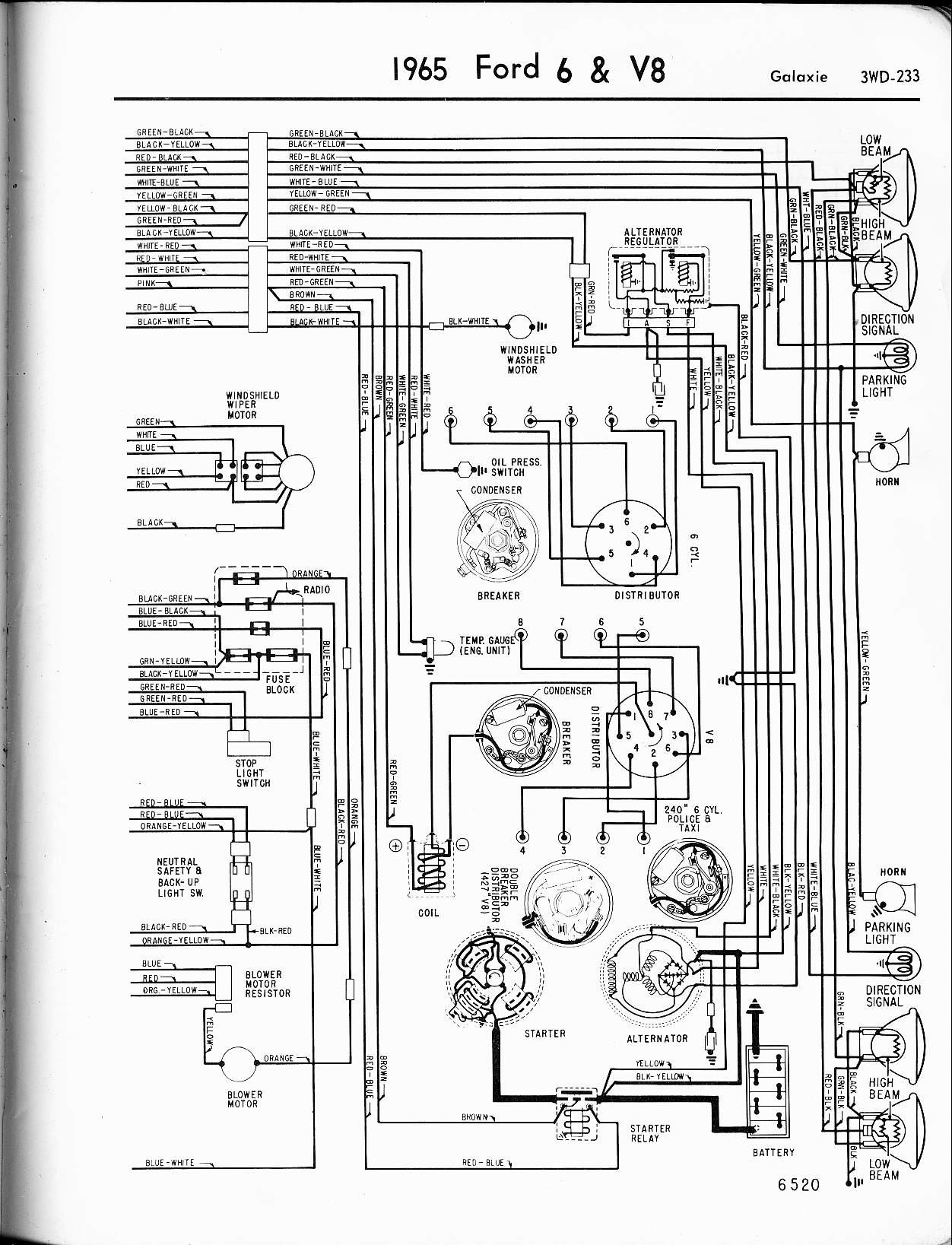 On Somewhat Of A Whim I Recently Purchased 1966 Ford Galaxie 500 How To Wire Two Switches One Light Http Www Justanswer Com Graphic