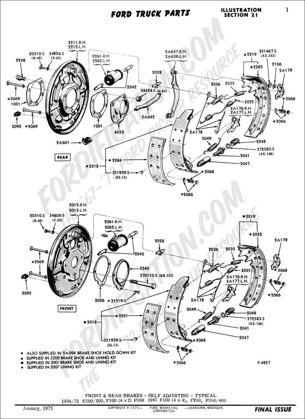 where can i get a diagram for the rear brakes on a 70 ford f100