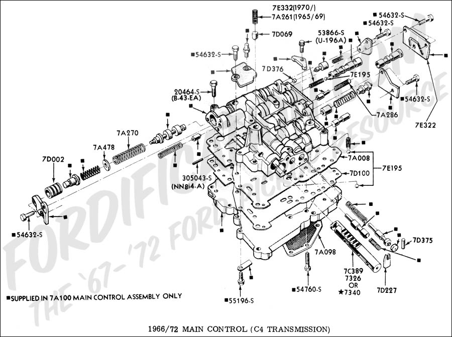1984 Ford C6 Diagram