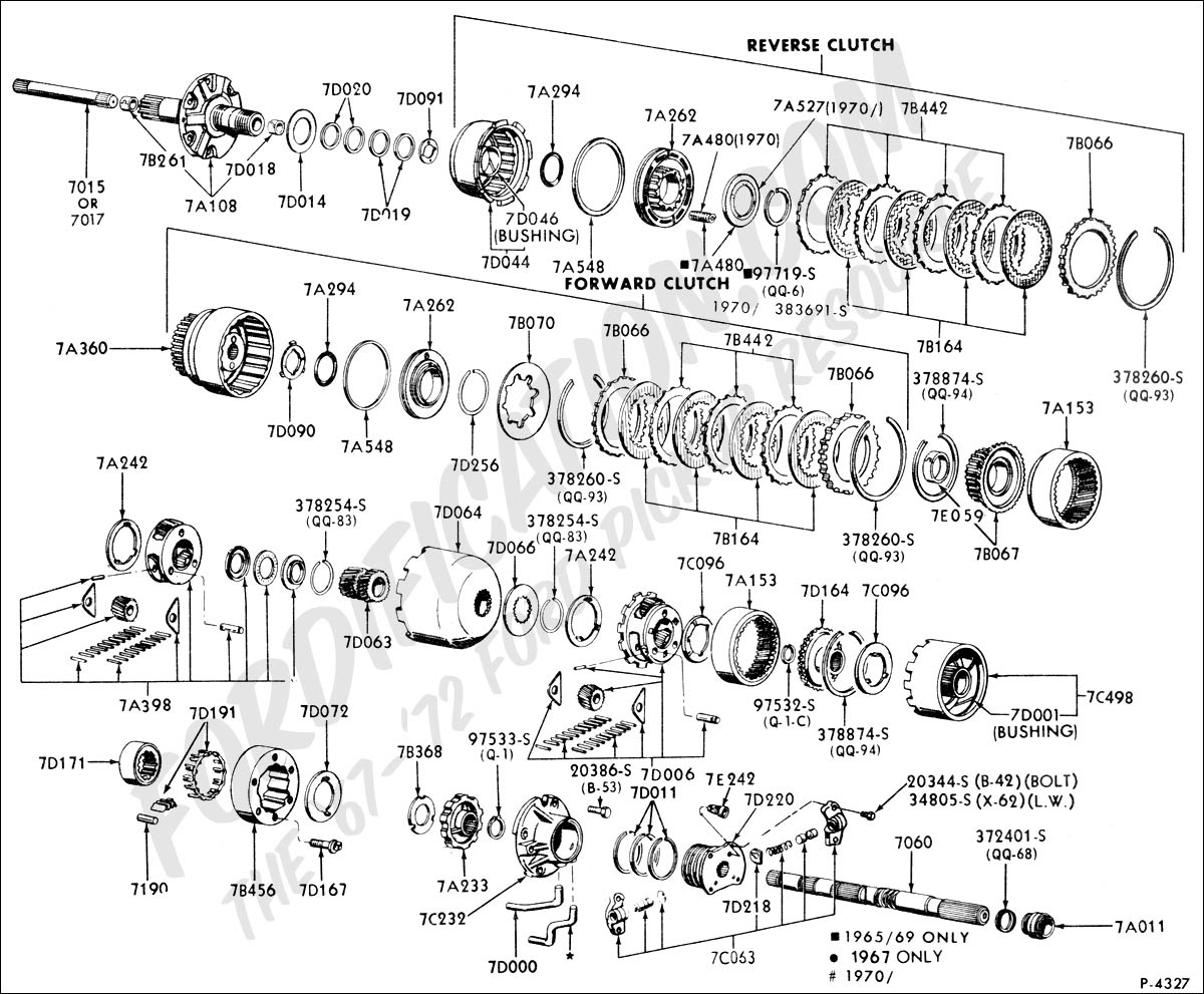 ford c4 transmission parts diagram ford e4od transmission parts diagram 1970 ford econoline/302civ8/c-4 auto.trans. please give me ... #1