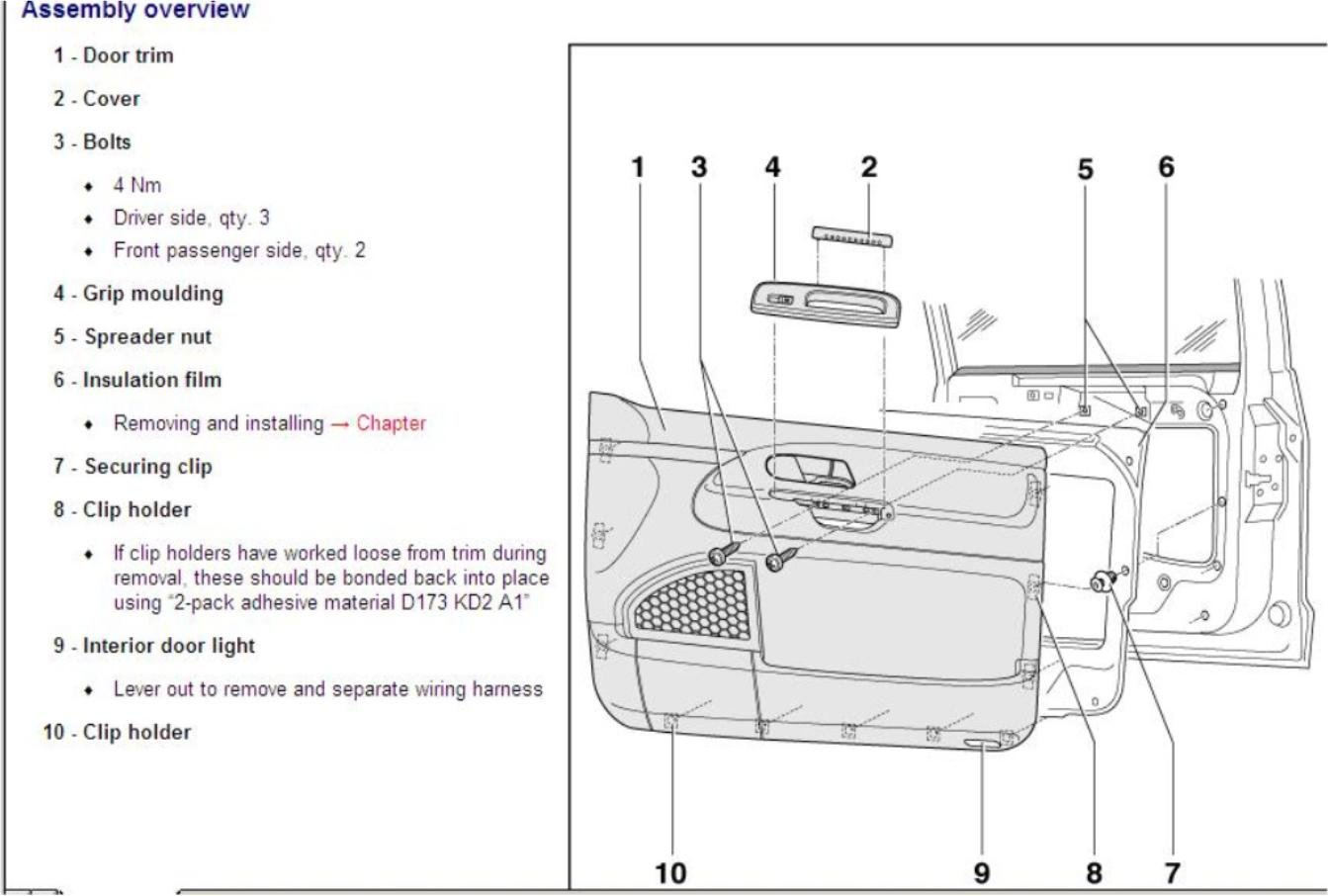 How To Remove Door Lock Mehanism From Seat Alhambra