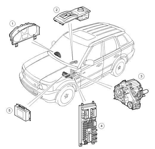 2004 range rover suspension control module location