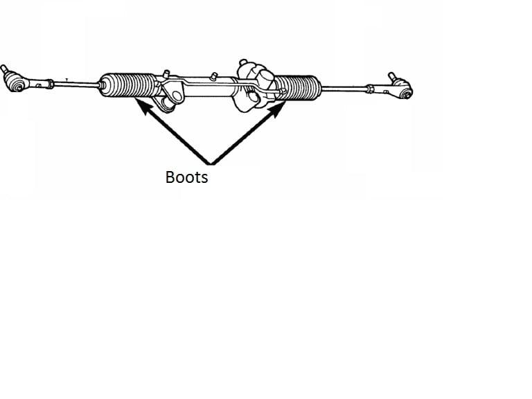 Boot on Dodge Dakota Steering Diagram