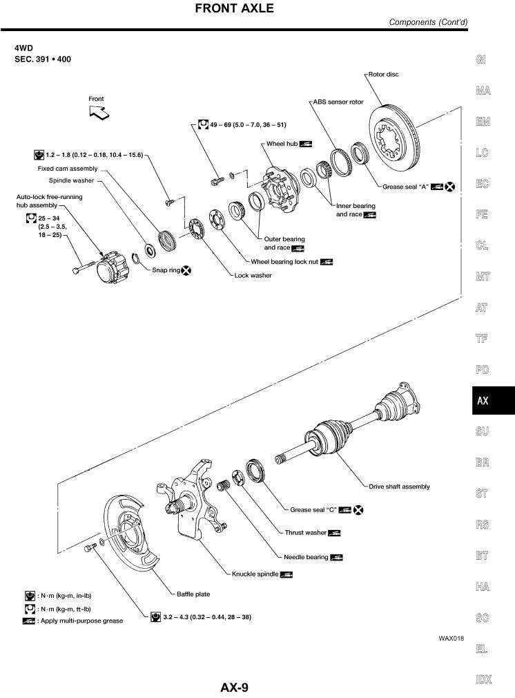 Need A Diagram On Wheel Stud Replacement For A 2001 Nissan