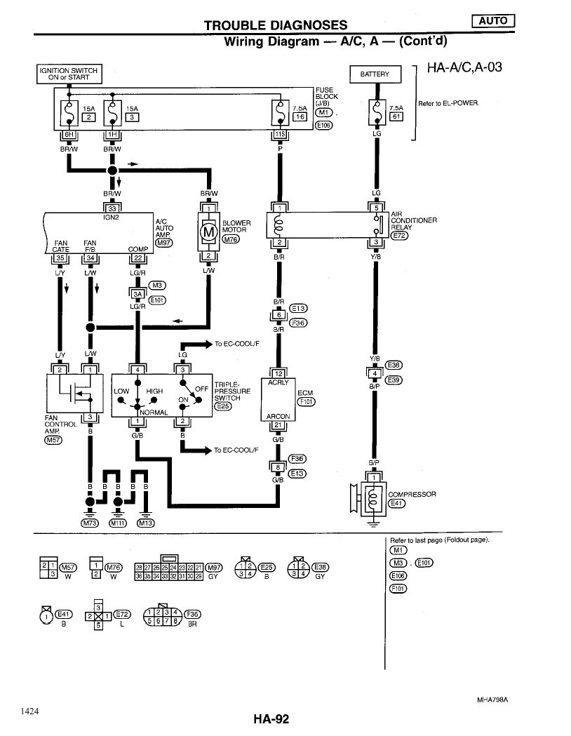 99 maxima-a/c blowing hot air. they can bypass the compressor to make it work, but obviously ... 99 maxima fuse diagram