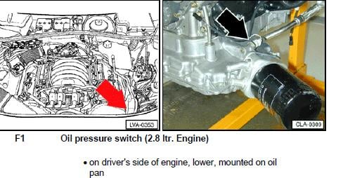 Where Is The Oil Pressure Sensor Located On A 96 A4 2 8l