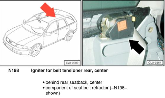 audi  airbag warning light stays   fault codes   control module