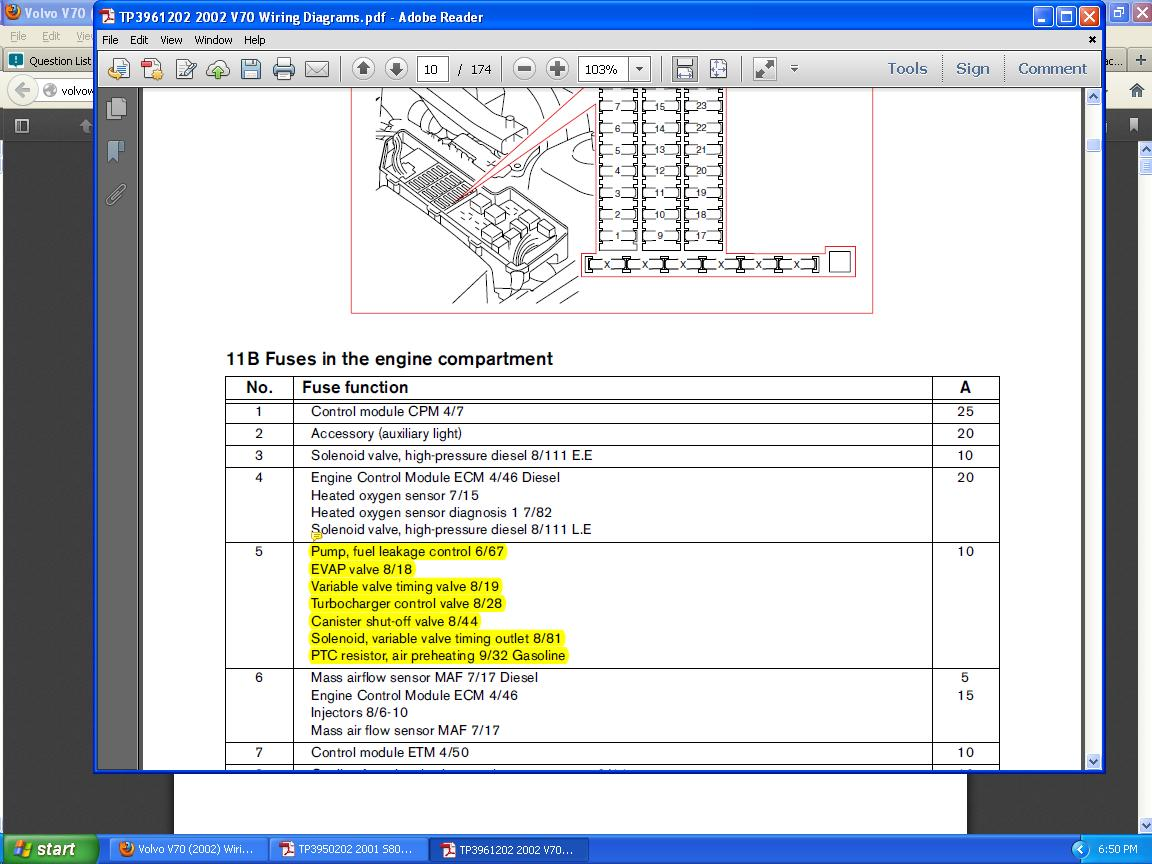 Check Engine Light On Question Crankshaft Position Sensor And Volvo V50 Fuse Box Full Size Image