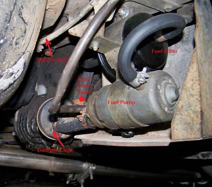I have a 1974 Mercedes 450sl. I am replacing the fuel pump and ...