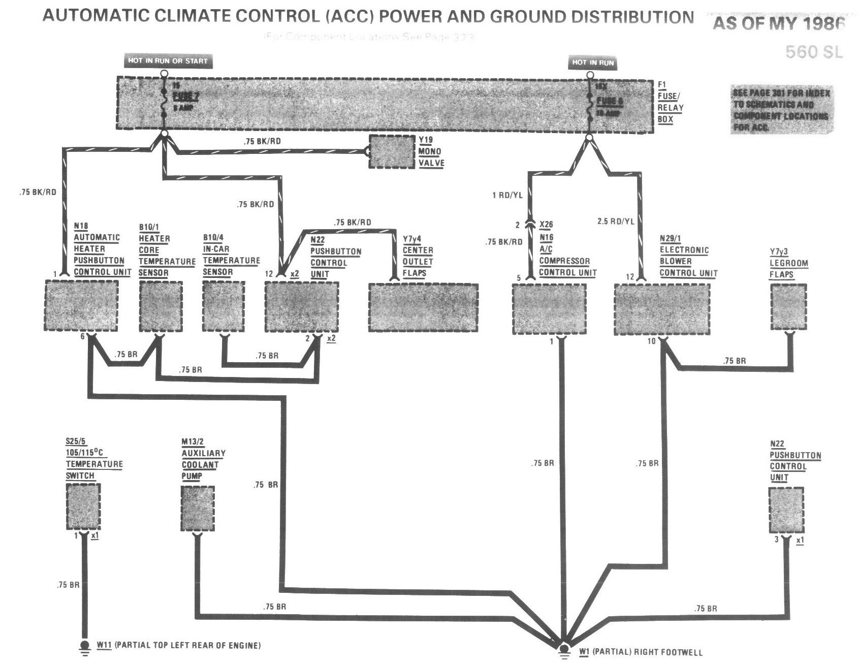 1987 Mercedes 560sl    Fuse       Box       Diagram     ImageResizerToolCom