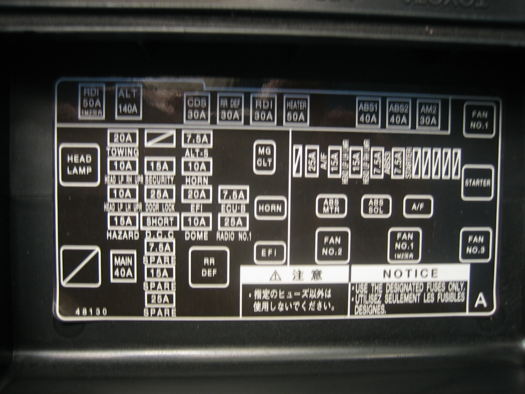 2013 Camry Se Fuse Box Opinions About Wiring Diagram 2011 Layout In My For 2003 Highlander There Is A Missing Relay Marked Rdi 50a What This 2008 Toyota Removal