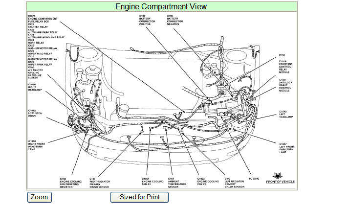 1996 ford taurus: humming noise..engine compartment..hose..a cap on it: 2002 Ford Taurus Engine Compartment Diagram at e-platina.org