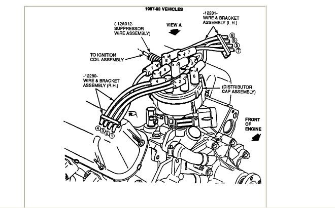 what is the firing order for a 92 f150 with a 302 and what ... 92 ford f 150 exploded engine diagram #2