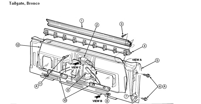 I am trying to replace a rear window motor in a full size