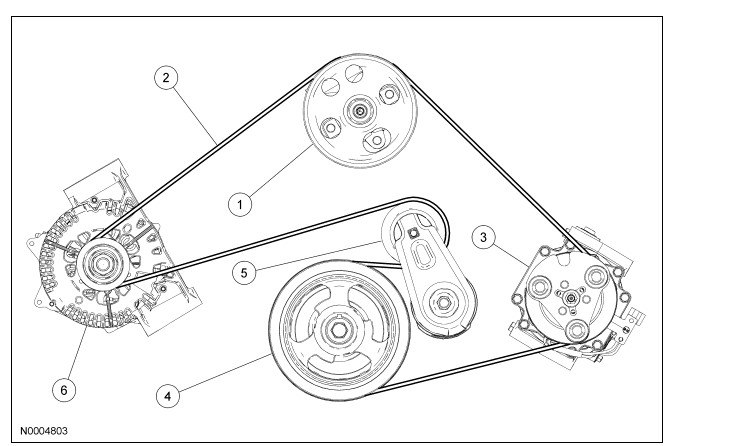Diagram For A Ford 3 9l Freestar Engine Belt How Is The